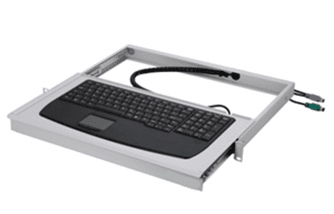 "Picture of 19""-Schubfach 1HE mit Industrie-Tastatur"